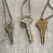 Stamped Key Necklace - FOLLOW YOUR ARROW - #3465