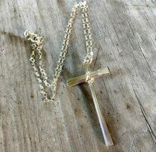Scrap Cross Necklace - #4131