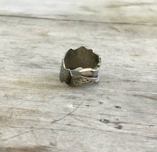 Spoon Ring from Spoon Bowl Size 7 Scalloped Edge