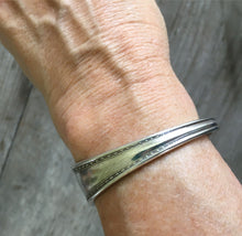 Spoon Cuff Bracelet shown on model