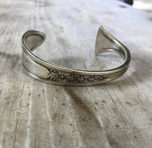 Spoon Cuff Bracelet Hand Stamped From Tudor Plate Enchantment Pattern from 1929