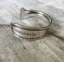 Spoon Cuff Bracelet Hand Stamped AUTHENTIC