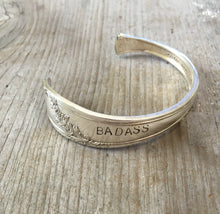 Tudor Plate Queen Bess Cuff Bracelet from Spoon stamped badass