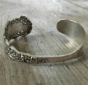 Full Cuff view of upcycled silverware bracelet
