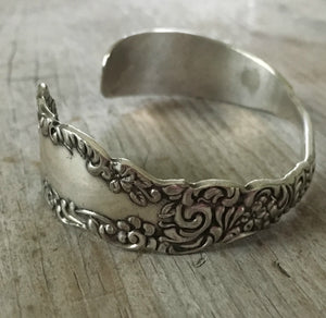 Detailed Design on Upcycled Silverware Cuff Bracelet Cromwell