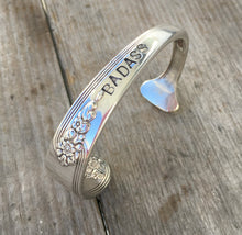 Handstamped Spoon Cuff Bracelet Size Medium Badass