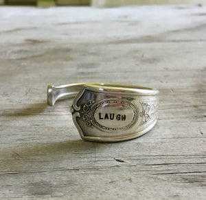 Spoon Cuff Bracelet - LAUGH- LOUIS XIV - #3592