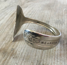 Upcycled Spoon Cuff Bracelet with Mermaid Tail Fin End
