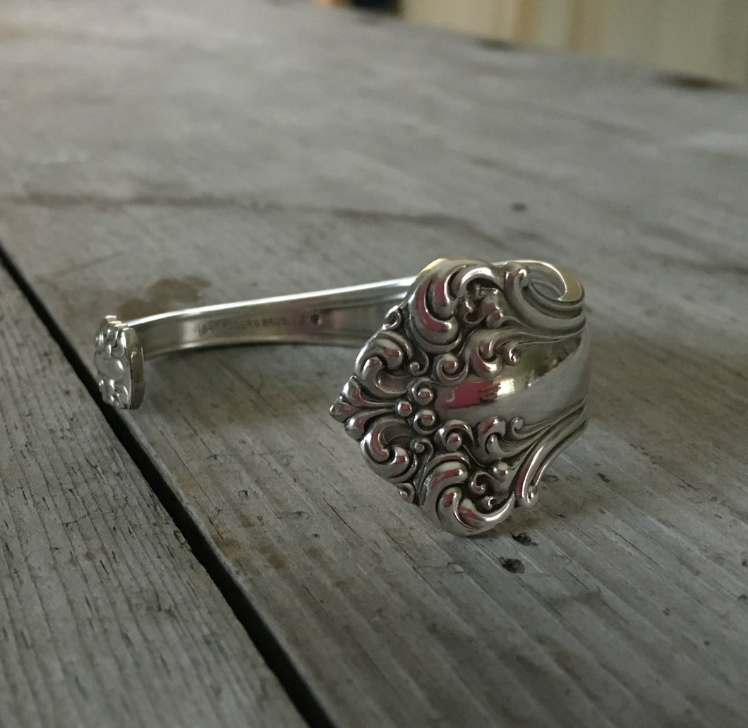 Ornate End of Avon Spoon Cuff Bracelet