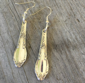 Spoon Earrings from Enchantment Silverware Pieces