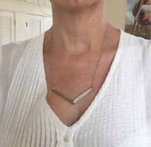 Chevron Spoon Necklace Shown on Model