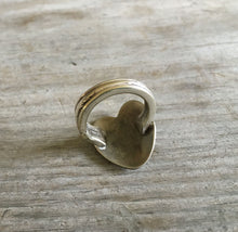 Underside of Spoon Heart Ring