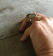Upcycled Spoon Ring on Model