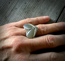 Spoon Ring Heart Shaped Hiawatha Size 7 3523 Shown On Model Hand