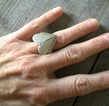 Spoon Ring Heart Shaped Hiawatha Size 7 3736 Shown on Model Hand