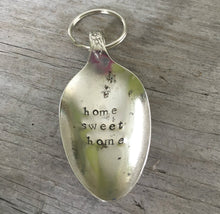 Stamped Spoon Keychain Home Sweet Home