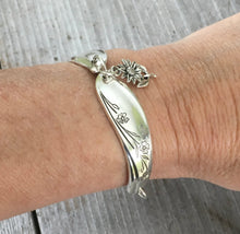 Spoon Link Bracelet shown on model wrist for size and scale