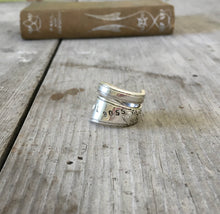 Spoon Ring Stamped Girl Boss Adoration Pattern in Coil Wrap Design View 2 Size 7