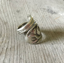 Coil Wrap Spoon Ring Size 8 from upcycled Silverware