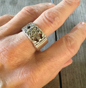 Spoon Ring Coronation Size 8 3726 Shown on Model Hand