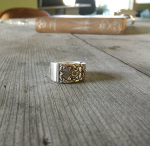 Community Coronation Spoon Made into Size 8 Ring 3726