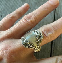 Spoon Ring Crest Size 11 3913 Shown on Model Hand