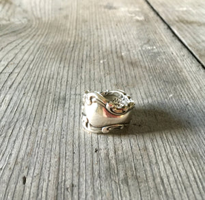 Spoon Ring Modern Baroque Size 8