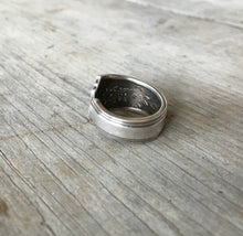 Upcycled silverware ring from antique spoon Tudor Plate Fortune