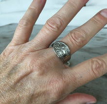 Spoon ring size 10 shown on model's hand