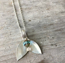Upcycled Spoon Necklace in the shape of a mermaid tail