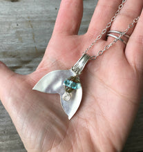 Upcycled vintage spoon bowl neckalce with aqua glass bead