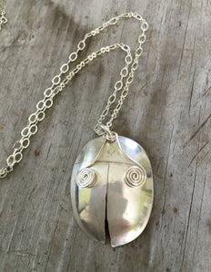 Upcycled Spoon Handmade into a Ladybug Necklace