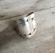 Cake Server Cuff Bracelet Hand Stamped Enough
