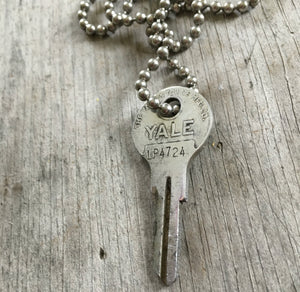Stamped Key Necklace – DREAM - #3537