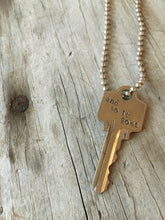 Stamped Key Necklace - AND SO IT GOES - #3710