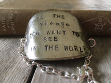 Hand Stamped Spoon Bracelet with an inspirational quote about change
