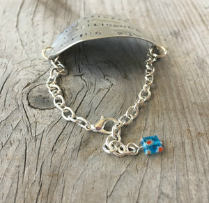 Upcycled Spoon Bracelet and Millifiori Bead