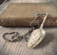 Stamped spoon necklace in convex shape