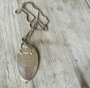 Stamped Spoon Necklace – VINTAGE SOUL – #4097