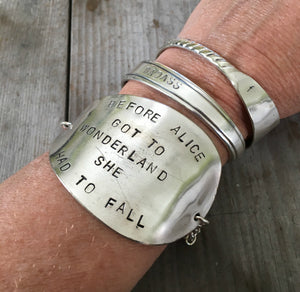 Spoon bracelet shown on model wrist