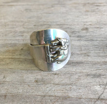 Sterling Spoon Cuff Ring - ELEPHANT - #4432