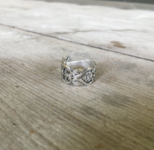 Detail View of Sterling Spoon Ring from Sweden Demi Tass Spoon