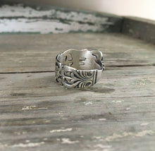 Adjustable Size 7.5 Sterling Spoon Ring from Sweden Demi Tasse Spoon