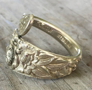 Sterling Silver Coil Wrap Ring S. Kirk & Son Repousse Size 7.5