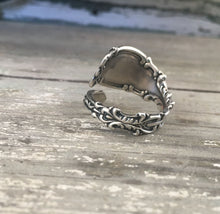 Ornate Size 8 Sterling Silver Coil Wrap Spoon Ring Josephine Pattern