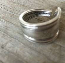 Inside of Sterling Silver Spoon Ring Made from Baby Fork Monogram Lois