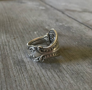 Sterling Spoon Ring – OLD COLONY - #3082