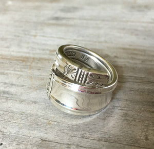 Alternate Angle of Danish Princess Coil Wrap Spoon Ring