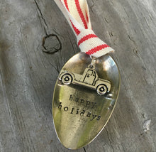 Stamped Spoon Ornament - HAPPY HOLIDAYS