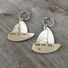 Spoon Sailboat Artisan Keychain - Made to Order